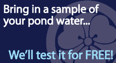 We'll Test Your Pond Water for FREE!